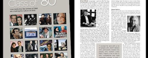 """Class of '80"" in Written By Magazine"