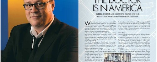 My Written By interview with Russell T. Davies is here!