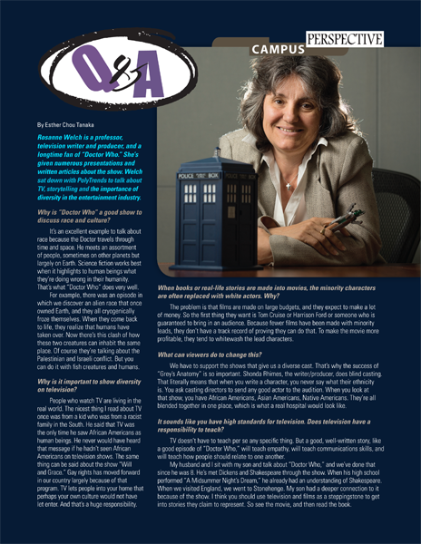 Q&A with Dr. Rosanne Welch from PolyTrends Magazine - Summer 2014
