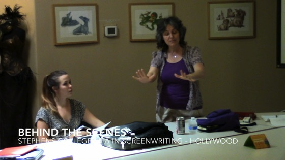 Behind the Scenes Video - Dr. Rosanne Welch Teaching at Stephens College Low Residency MFA Program in Hollywood