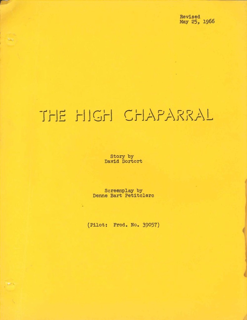 High Chapparel script cover
