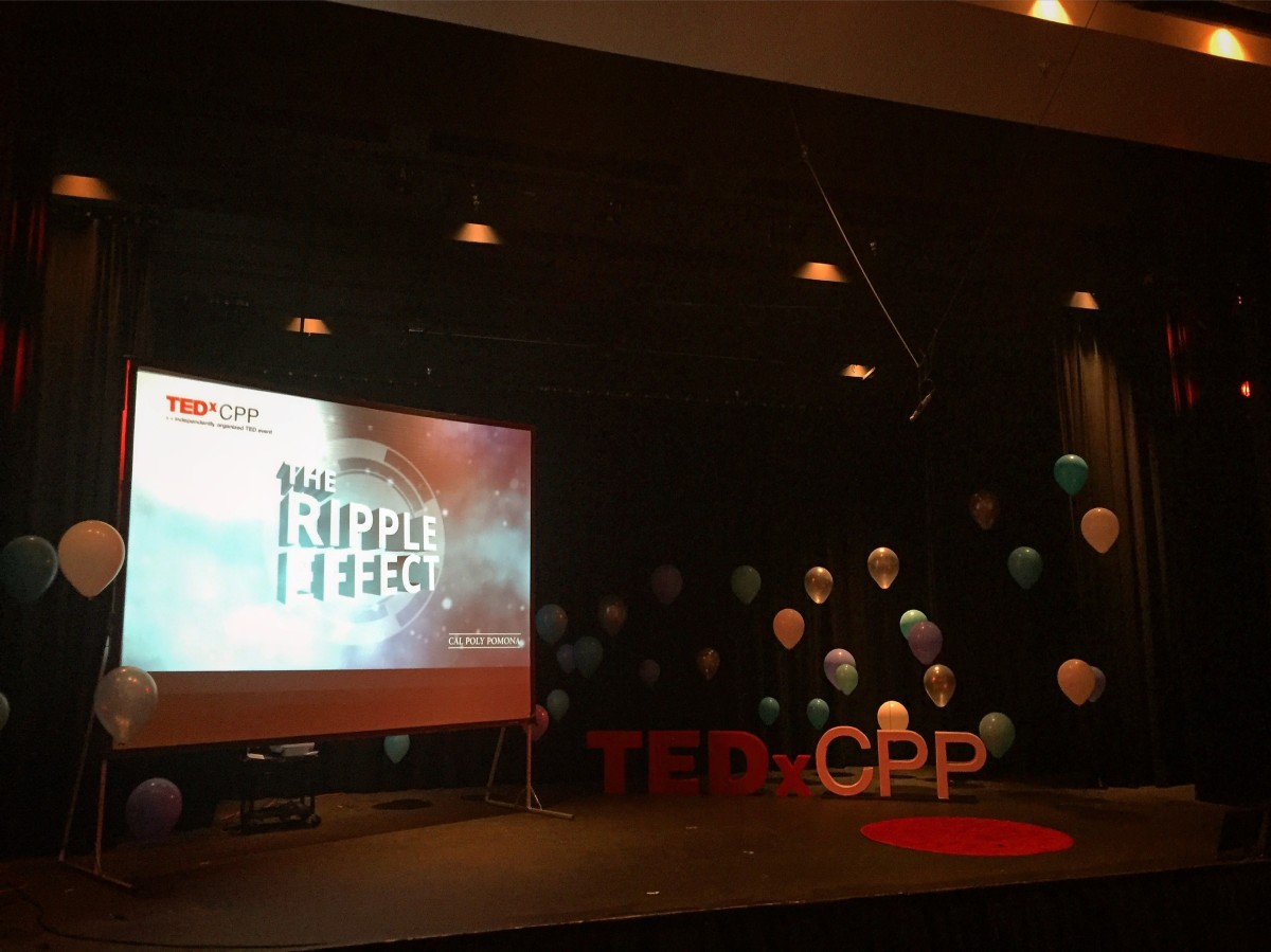 The TEDxCPP stage is set! #TEDx #tedxcpp #tedxcpp2016 #speaking #education