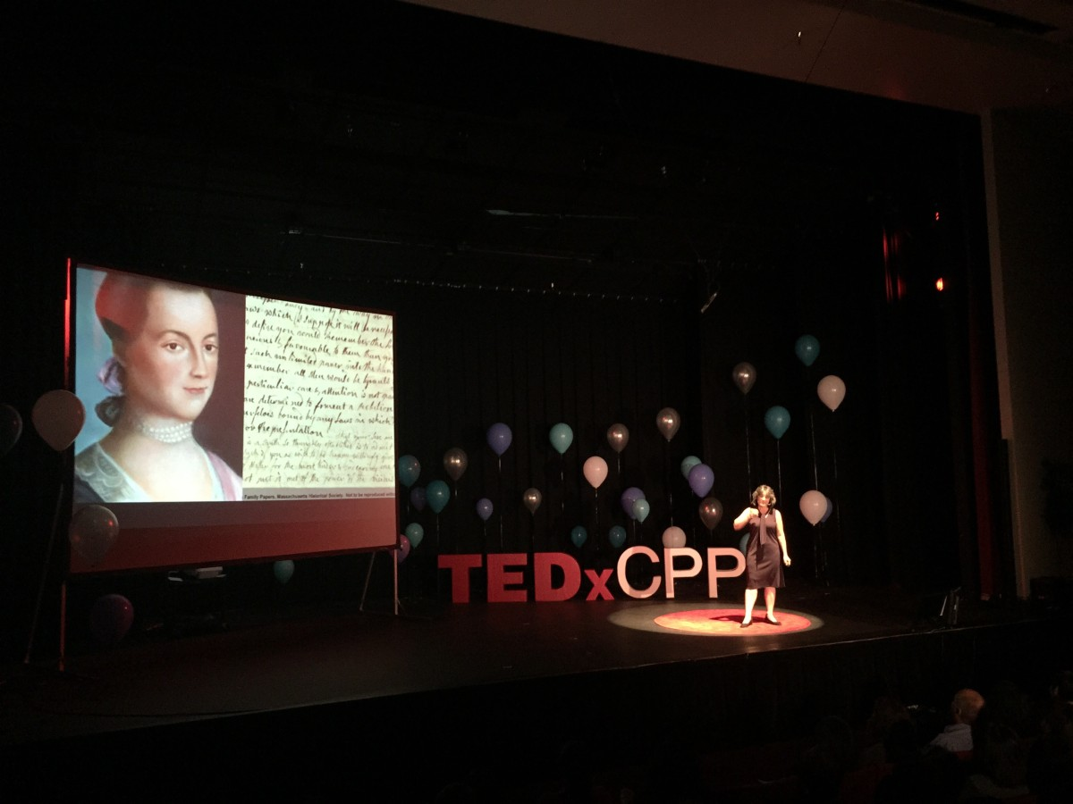 On stage at #TEDxCPP #TEDx #speaking #education