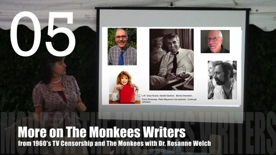 More on The Monkees Writers from 1960's TV Censorship and The Monkees with Dr. Rosanne Welch