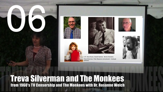 Treva Silverman and The Monkees from 1960's TV Censorship and The Monkees with Dr. Rosanne Welch