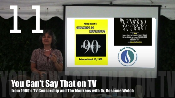 You Can't Say That on TV from 1960's TV Censorship and The Monkees with Dr. Rosanne Welch