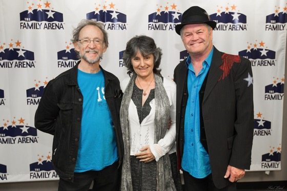 Dr. Rosanne Welch with The Monkees, Peter Tork and Micky Dolenz, Family Arena, St. Louis, MO, November 5, 2016 [Photo]