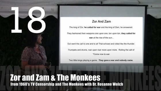 Zor and Zam and The Monkees from 1960's TV Censorship and The Monkees