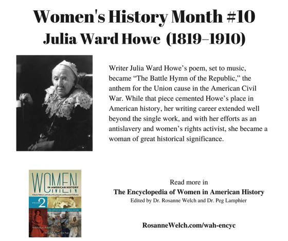 Women's History Month - 10 in a series - Julia Ward Howe