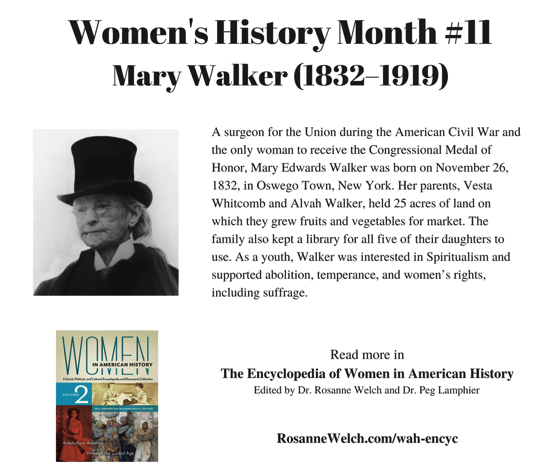 Women's History Month - 11 in a series - Mary Walker