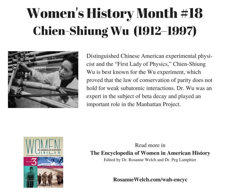 Women's History Month – 18 in a series – Chien-Shiung Wu