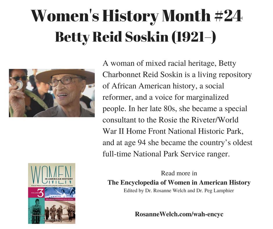 Women's History Month – 24 in a series – Betty Reid Soskin