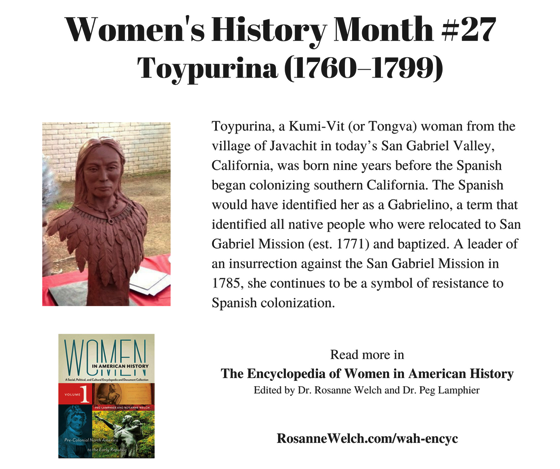 Women's History Month – 27 in a series – Toypurina