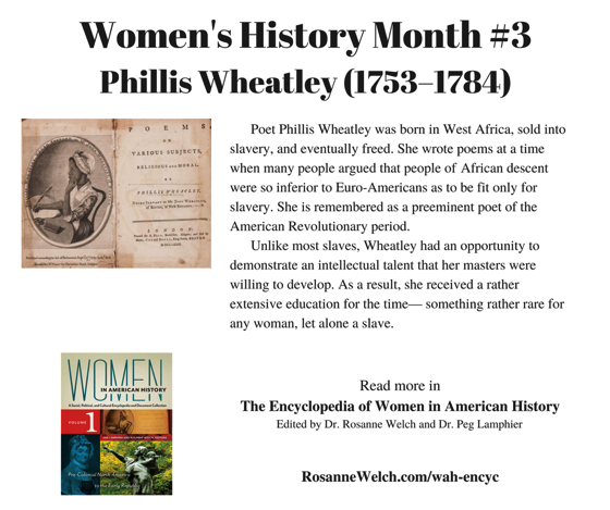 Women's History Month - 3 in a series - Phillis Wheatley