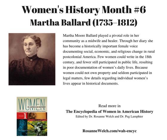 Women's History Month - 6 in a series - Martha Ballard