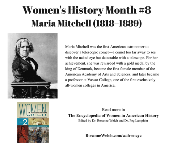Women's History Month - 8 in a series - Maria Mitchell, Astronomer
