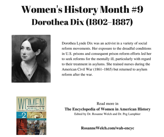 Women's History Month - 9 in a series - Dorothea Dix