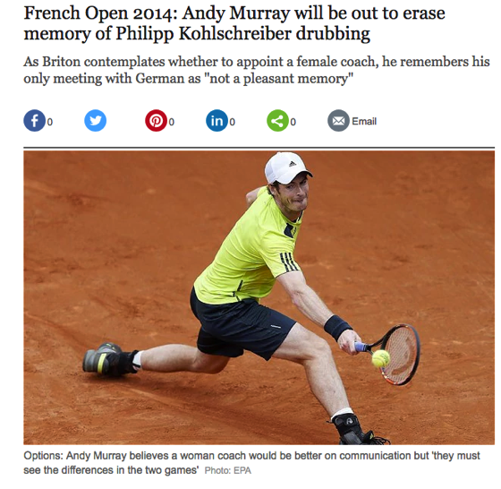 From The Research Vault: French Open 2014: Andy Murray will be out to erase memory of Philipp Kohlschreiber drubbing