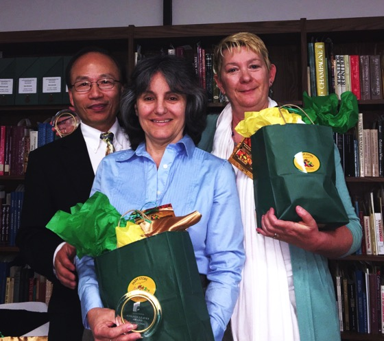 Cal Poly Pomona Golden Leaves Presentation to Dr. Rosanne Welch and Dr. Peg Lamphier