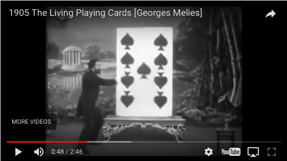 A History of Screenwriting - 30 in a series - Living Playing Cards (George Méliès, France, 1905)