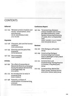 Journal screenwriting v8i2 toc