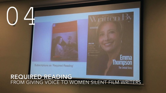 Required Reading My Background from Giving Voice to Silent Films and the Far From Silent Women Who Wrote Them with Dr. Rosanne Welch