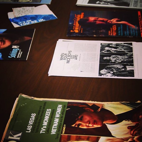 Monkees Research Materials and Memorabilia via My Instagram