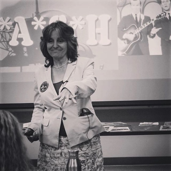 "Scene from my presentation on ""How The Monkees Changed Television"" at Cal Fullerton Lunchtime Lectures"