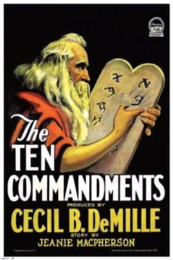 When Women Wrote Hollywood  - 3 in a series - The Ten Commandments (1923), Wr: Jeanie Macpherson, Dirs: Cecil B. DeMille, USA 136 mins