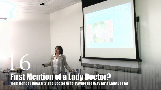 16 First Mention of a Lady Doctor? from Gender Diversity in the Who-niverse