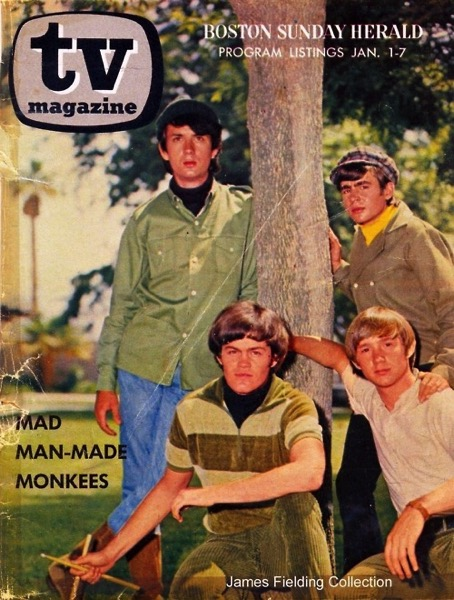 The Monkees, TV Magazine, Boston Herald, Jan. 1-7, 1967 via Smart Chicks Commune