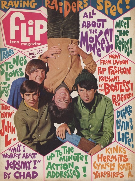 More on the Monkees: Flip Magazine, December 1966 via Sunshine Factory