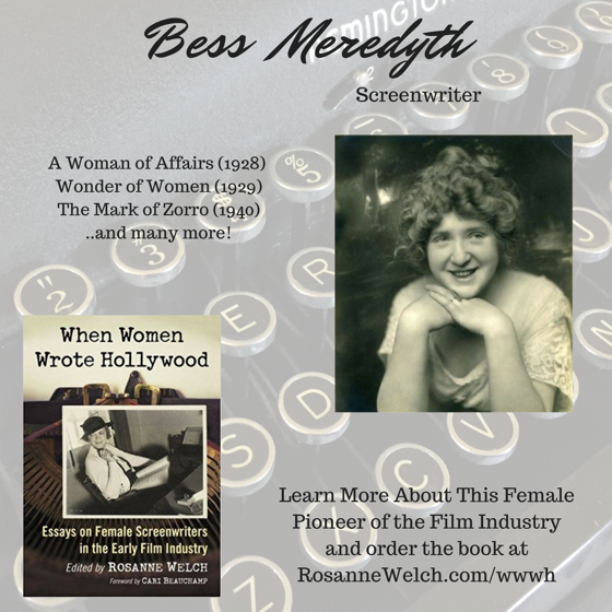 When Women Wrote Hollywood - 8 in a series - Bess  Meredyth