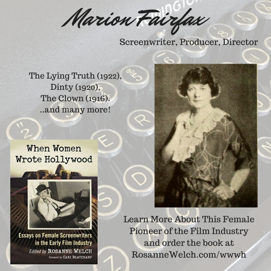 When Women Wrote Hollywood - 12 in a series - Marion Fairfax