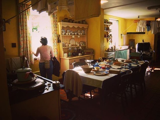 Standing in James Herriot's Kitchen and looking out into the garden via Instagram