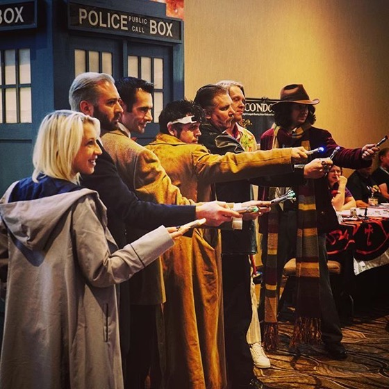Is There A Doctor In The House??? Multiple cosplay Doctors at @whoconsandiego via Instagram