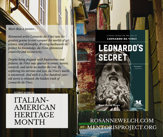 Leonardo's Secret by Peter David Myers - Italian-American Heritage Month - 9 in a series