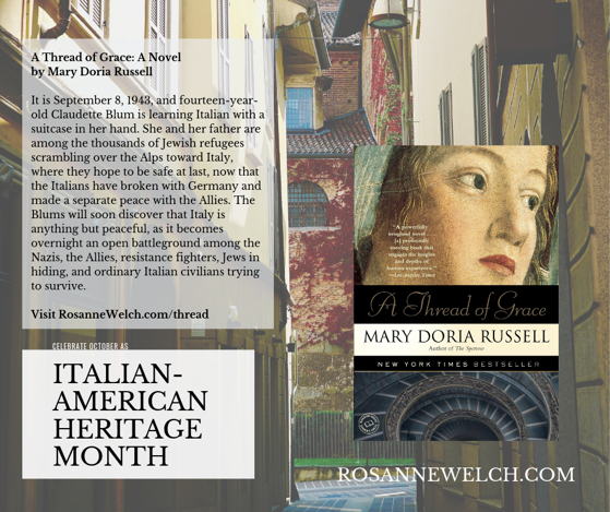 A Thread of Grace: A Novel by Mary Doria Russell - Italian-American Heritage Month - 30 in a series