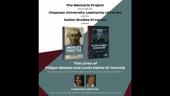 The Mentoris Project Presentation and Book Reading at Leatherby Library, Chapman University [Video] (1:14:00).