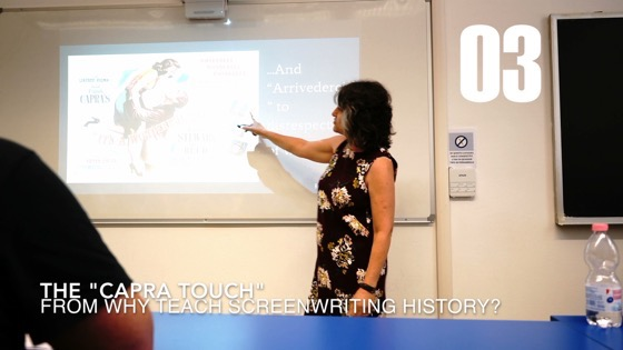 """03 The """"Capra Touch"""" from Why I Created a History of Screenwriting Course [Video] (1:08)"""