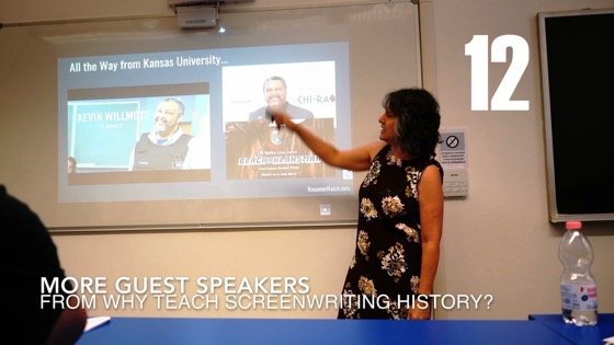 12 More Guest Speakers from Why (and How) I Created a History of Screenwriting Course