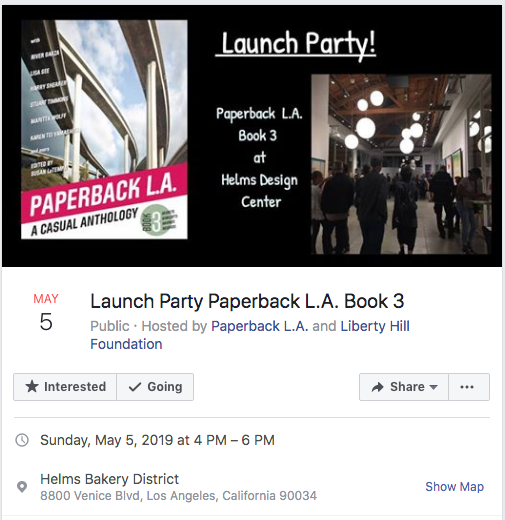 Join me at the Paperback L.A. #3 Anthology Launch Party, May 5, 2019 [Event]