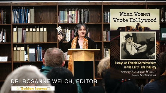 Dr. Rosanne Welch Speaks at the Golden Leaves Presentation, Cal Poly Pomona University Library