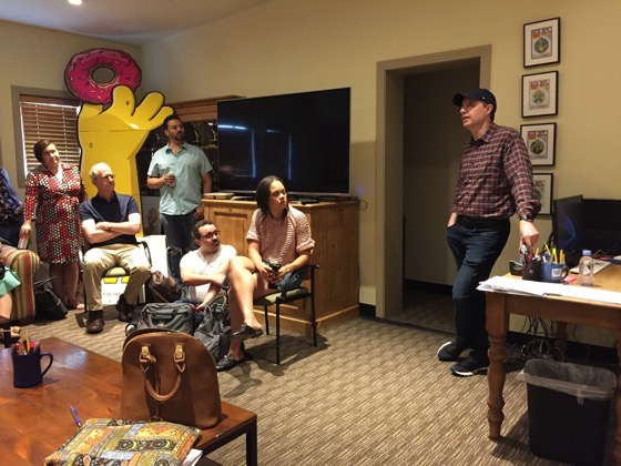 Stephens College MFA in TV and Screenwriting visit producer/writer Rob LaZebnik and The Simpsons writer's room