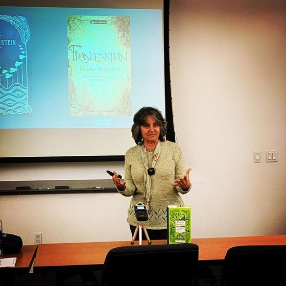"Presenting ""When Women Wrote Horror"" at the Cal Poly Pomona University Library as a Halloween event"