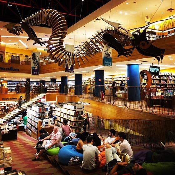 Livraria Cultura, Sao Paolo, Brazil via Instagram