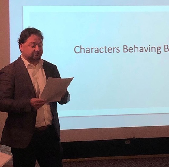 Pavel Jech Presents on short film screenplay writing at the Stephens College MFA in TV and Screenwriting Winter Workshop