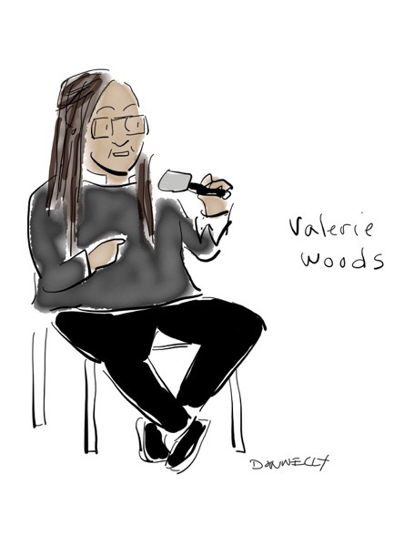 Liza Donnelly is live-drawing and tweeting the Athena Film Festival - -Valerie Wood and Ken LaZebnik of the Stephens College MFA in TV and Screenwriting