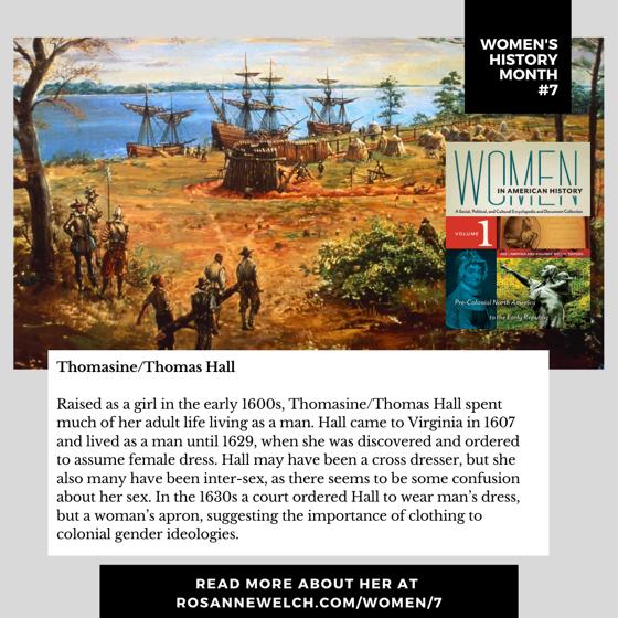 Women's History Month 7: Thomasine/Thomas Hall