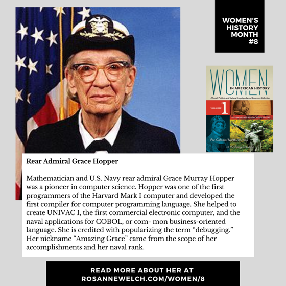 Women's History Month 8: Rear Admiral Grace Hopper